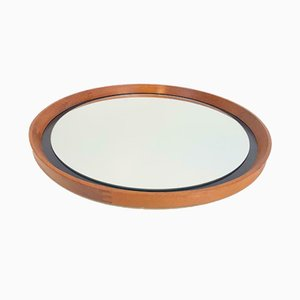 Vintage Scandinavian Teak Mirror by Uno & Östen Kristiansson for Luxus, 1960s