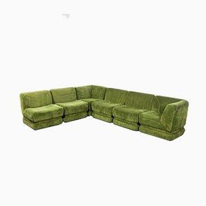 Vintage Green Velvet Modular Sofa