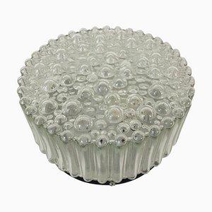 German Bubble Glass Round Flush Mount from Limburg, 1960s