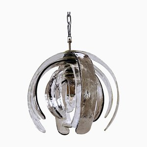 Murano Glass Artichoke Suspension Lamp by Carlo Nason for Mazzega, 1970s