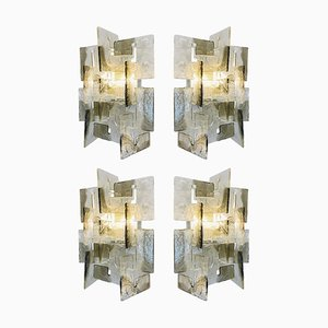 Murano C Wandlampen von Carlo Nason für Mazzega, 1970er, 2er Set