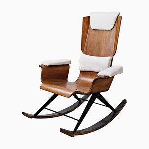 Italian Wooden Rocking Chair by Carlo Ratti, 1960s
