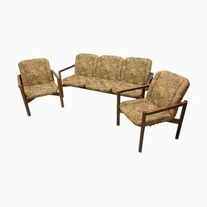 Vintage Czechoslovak Seating Group, 1980s, Set of 3