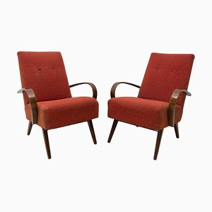 Mid-Century Bentwood Armchairs by Jaroslav Smidek for Thonet, 1960s, Set of 2