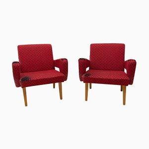 Mid-Century Armchairs Attributed to Bohumil Landsman for Jitona, 1970s, Set of 2