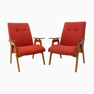 Mid-Century Armchairs by Jaroslav Smidek for Jitona, 1960s, Set of 2