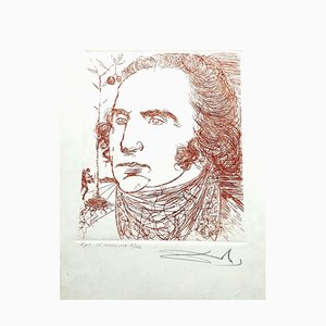 George Washington Etching by Salvador Dalí, 1967