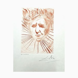 David Ben Gurion Etching by Salvador Dalí, 1968