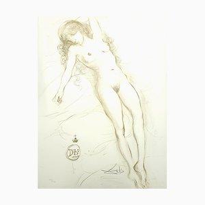 Akt mit erhöhten Armen Lithographie von Salvador Dalí, 1970