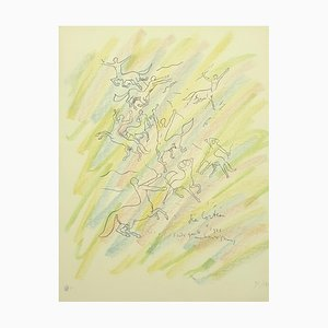 Study for the Wall Lithographie von Jean Cocteau, 1956
