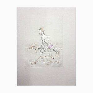 Voyeur Lithographie von Leonor Fini, 1982