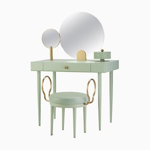 Rose Selavy Vanity Desk with Stool by Thomas Dariel, Set of 2