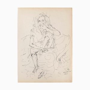 Portrait Pen on Ivory Paper, 1950