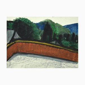 Landscape Mixed Media on Cardboard by Sun Jingyuan, 1970s