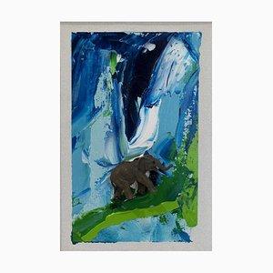 Untitled Elephant Mixed Media by Mario Schifano, 1995