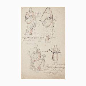 Bleistift und Pastellfarbene Kostüme von Georges Antoine Rochegrosse