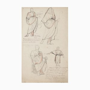 Studies for Costumes Pencil and Pastel by Georges Antoine Rochegrosse