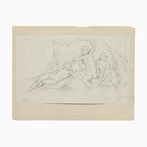 Frauengruppe Bleistift auf Papier von Gabriel Guèrin