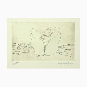 Nude Etching on Paper by Sergio Barletta, 1980s