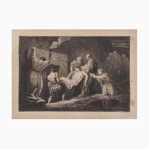 19th Century Deposition of Christ Etching Print