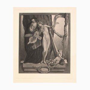 Vintage Lockung Heliogravure von Franz von Bayros