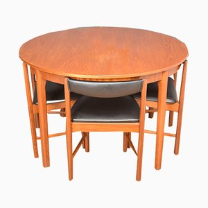 Teak Round Dining Table & Chairs Set from McIntosh, 1960s, Set of 5
