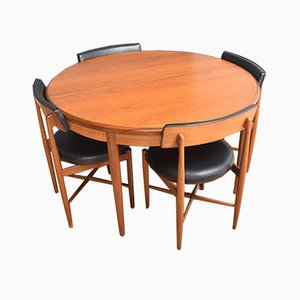 Teak Round Dining Table & Chairs Set by V B Wilkins for G-Plan, 1960s, Set of 5