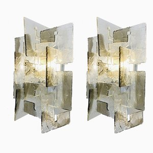 Model C Sconces by Carlo Nason for Mazzega, 1970s, Set of 2