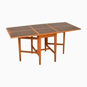 Vintage Walnut Drop Leaf Dining Table, 1950s