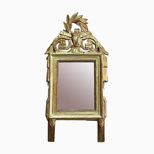 Small Antique Louis XVI Style Gilded Wood Mirror