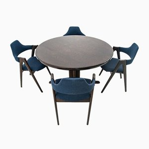 Dining Table & Compass Chairs Set from Skovby, 1960s, Set of 5