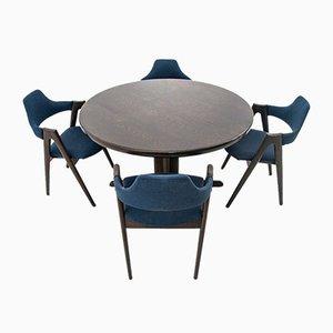 Set da pranzo con tavolo e sedie a compasso di Skovby, anni '60, set di 5