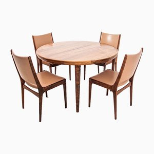 Dining Table & Chairs Set by Johannes Andersen, 1960s, Set of 7