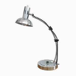 Vintage Extendable Chrome Table Lamp