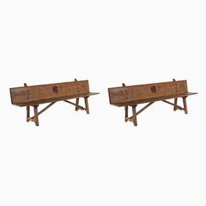 Early 18th-Century Spanish Benches, Set of 2