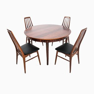 Rosewood Dining Table & Chairs Set by Johannes Andersen, 1960s, Set of 5