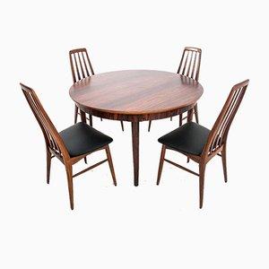 Tavolo da pranzo e sedie in palissandro di Johannes Andersen, anni '60, set di 5