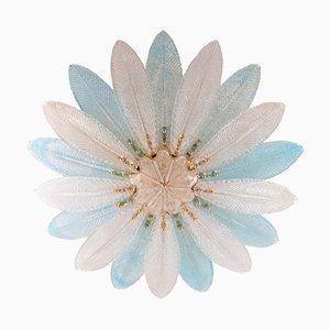 Applique grande a forma di palmari in vetro di Murano blu, anni '60