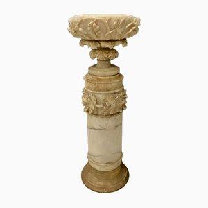 Antike Carved Alabaster Vase