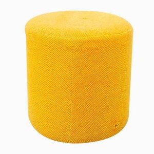 Vintage Yellow Pouf, 1970s