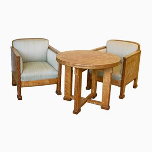 Living Room Set by Otto Wretling & David Wretling, 1920s, Set of 3