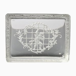 Bohemian Intaglio Glass Box from Heinrich Hoffmann, 1930s