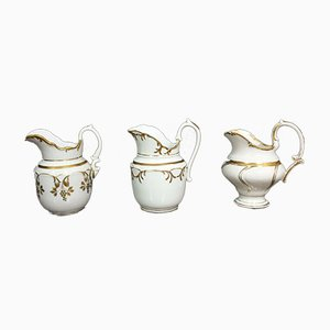 Brocche Empire con decorazioni dorate, set di 3