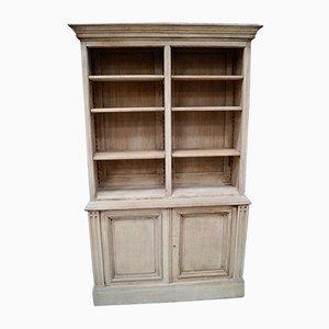 Antique Bleached Oak Bookcase