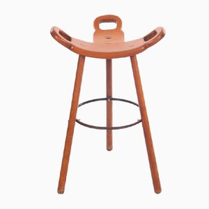 Spanish Brutalist Marbella Bar Stool for Confonorm, 1970s