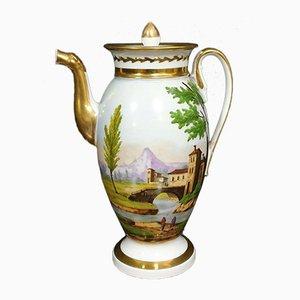 Brocca imperiale con paesaggio lacustre, inizio XIX secolo