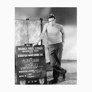 Marlon Brando Costume Test Archival Pigment Print Framed in White by Everett Collection