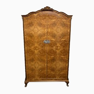 Queen Anne Burr Walnut 2-Door Wardrobe