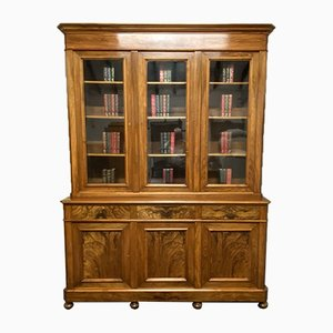 French Walnut 3 Door Library