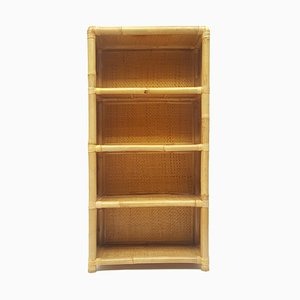 Late 20th-Century Spanish Bamboo Bookcase, 1970s